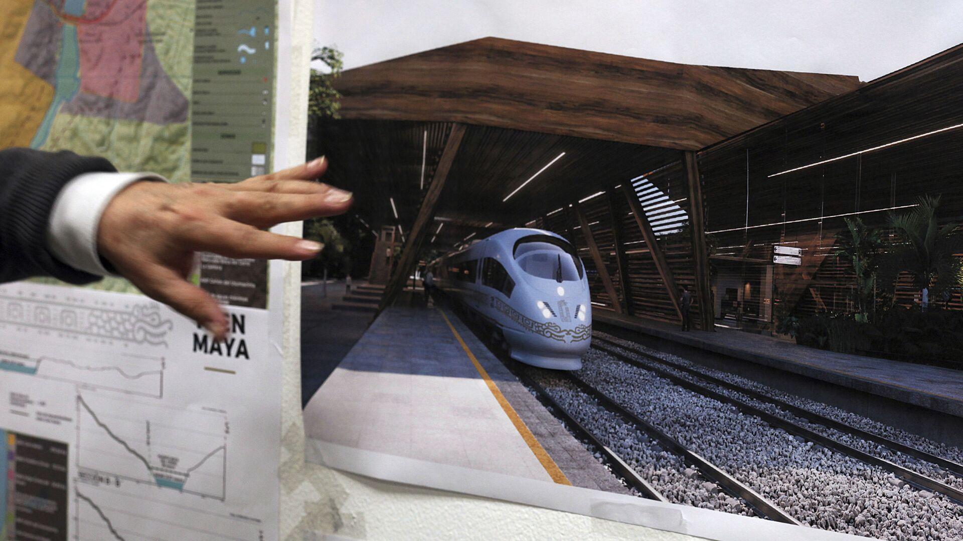 El plan de construcciones del Tren Maya - Sputnik Mundo, 1920, 25.08.2021