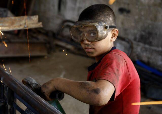 Trabajo infantil, imagen referencial