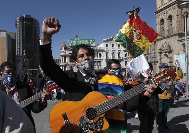 Protestas en Bolivia (imagen referencial)