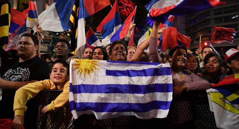 Partidarios del Frente Amplio en Uruguay