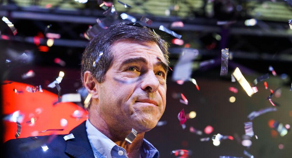 El político uruguayo Ernesto Talvi durante un acto del Partido Colorado en 2019