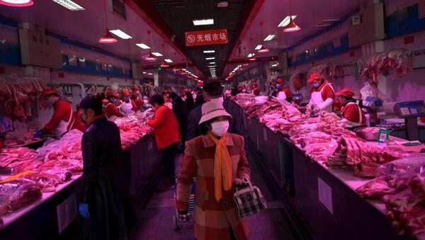 El mercado de Xinfadi, donde fue detectado el rebrote de COVID-19 - Sputnik Mundo