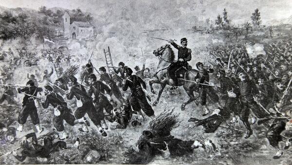 Una reproducción de la Batalla de Curupati durante la Guerra de la Triple Alianza - Sputnik Mundo