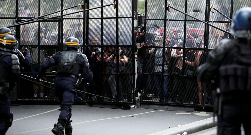 Protestas contra contra el racismo y la violencia policial en París