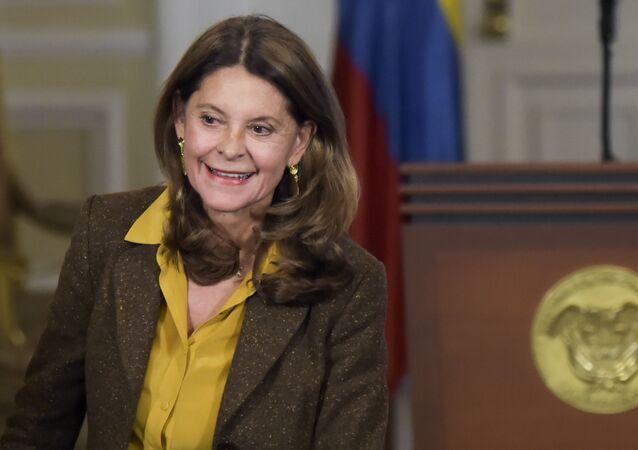 La vicepresidenta colombiana, Marta Lucía Ramírez
