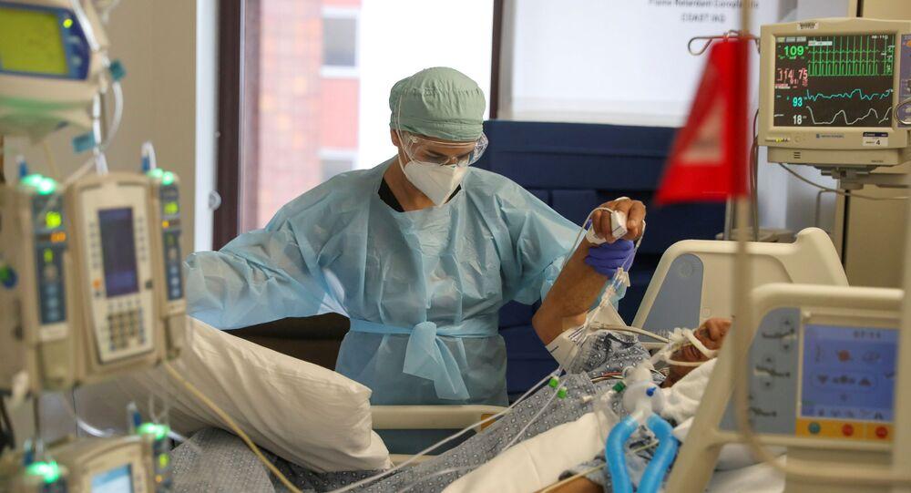 Un paciente con COVID-19 en EEUU (archivo)
