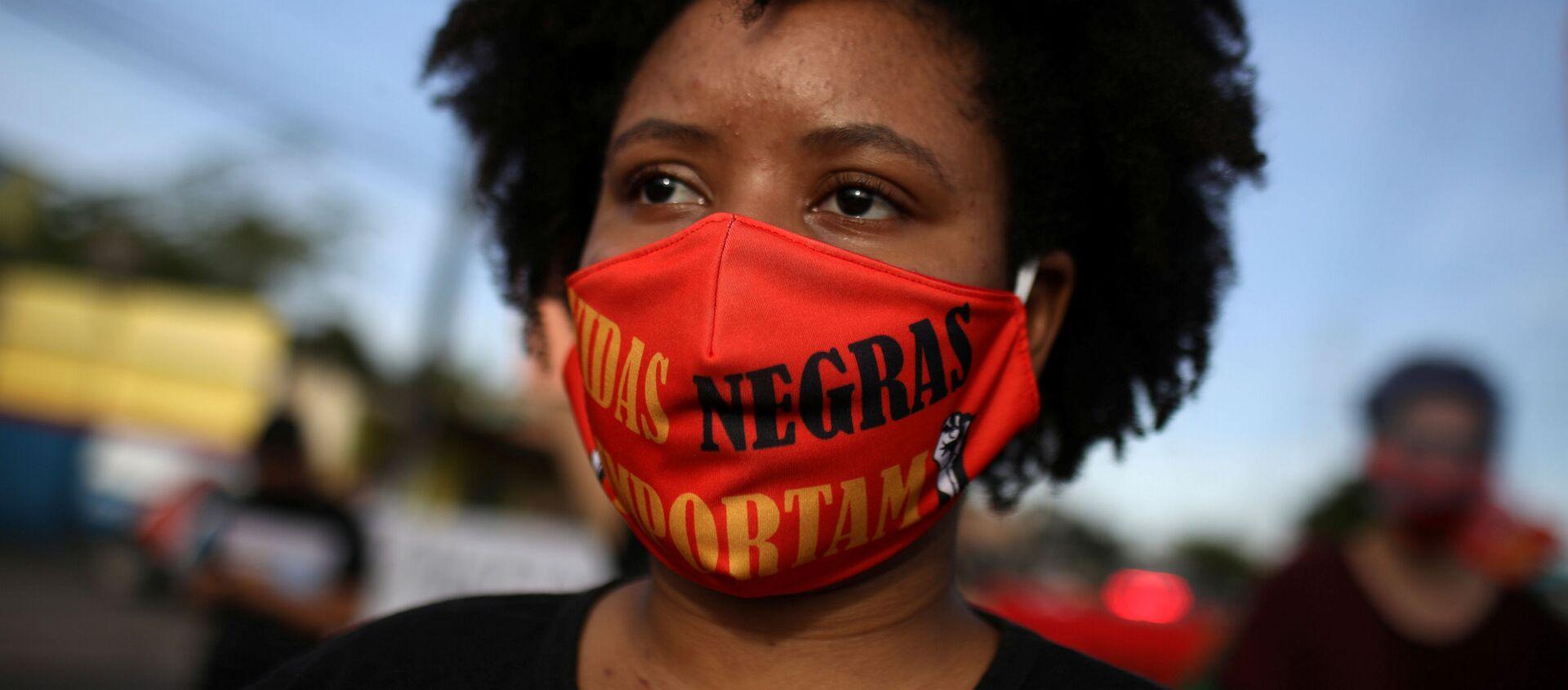 Protesta antirracista en Manaos, Brasil - Sputnik Mundo, 1920, 16.06.2020