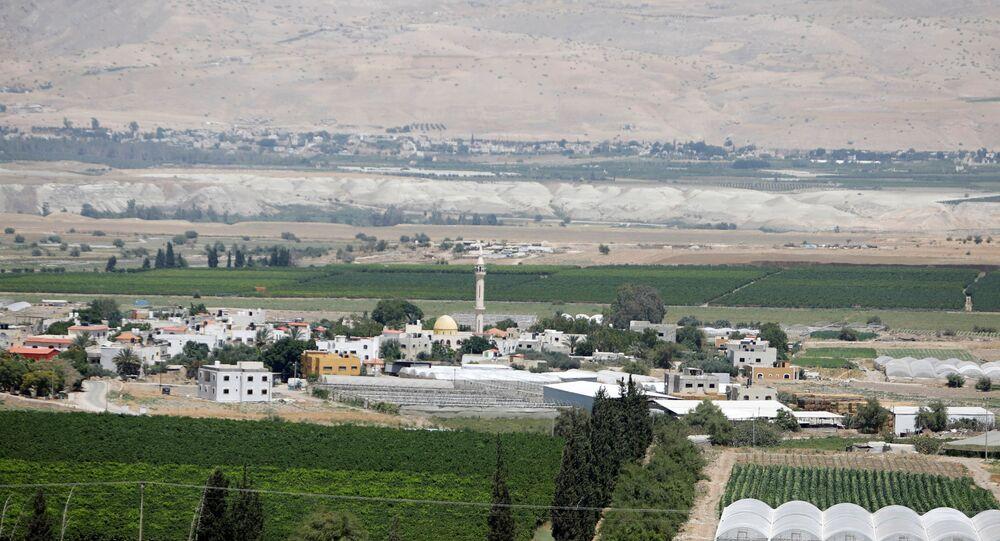 Un pueblo palestino en Cisjordania