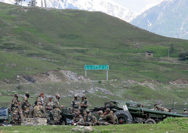 Militares indios en la región fronteriza de Ladakh