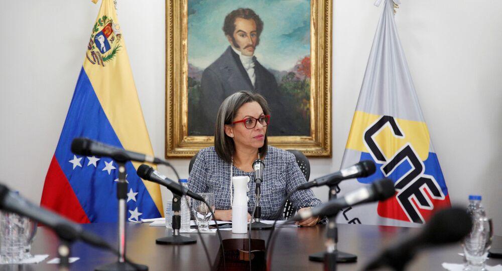 Indira Alfonzo, presidenta del Consejo Nacional Electoral de Venezuela