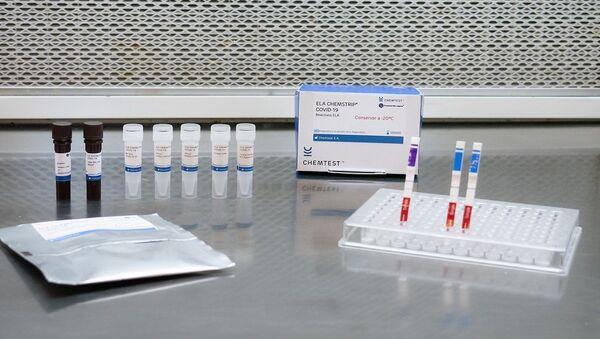 Test para diagnóstico de COVID-19 ELA-CHEMSTRIP - Sputnik Mundo