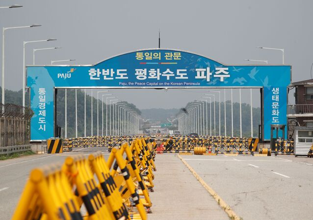 Puente en la forntera entre las dos Coreas