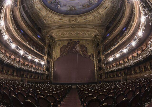 El Teatro Colón en Buenos Aires, Argentina