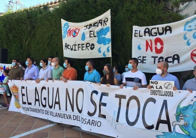Concentración Plataforma contra la embotelladora, Villanueva del Rosario