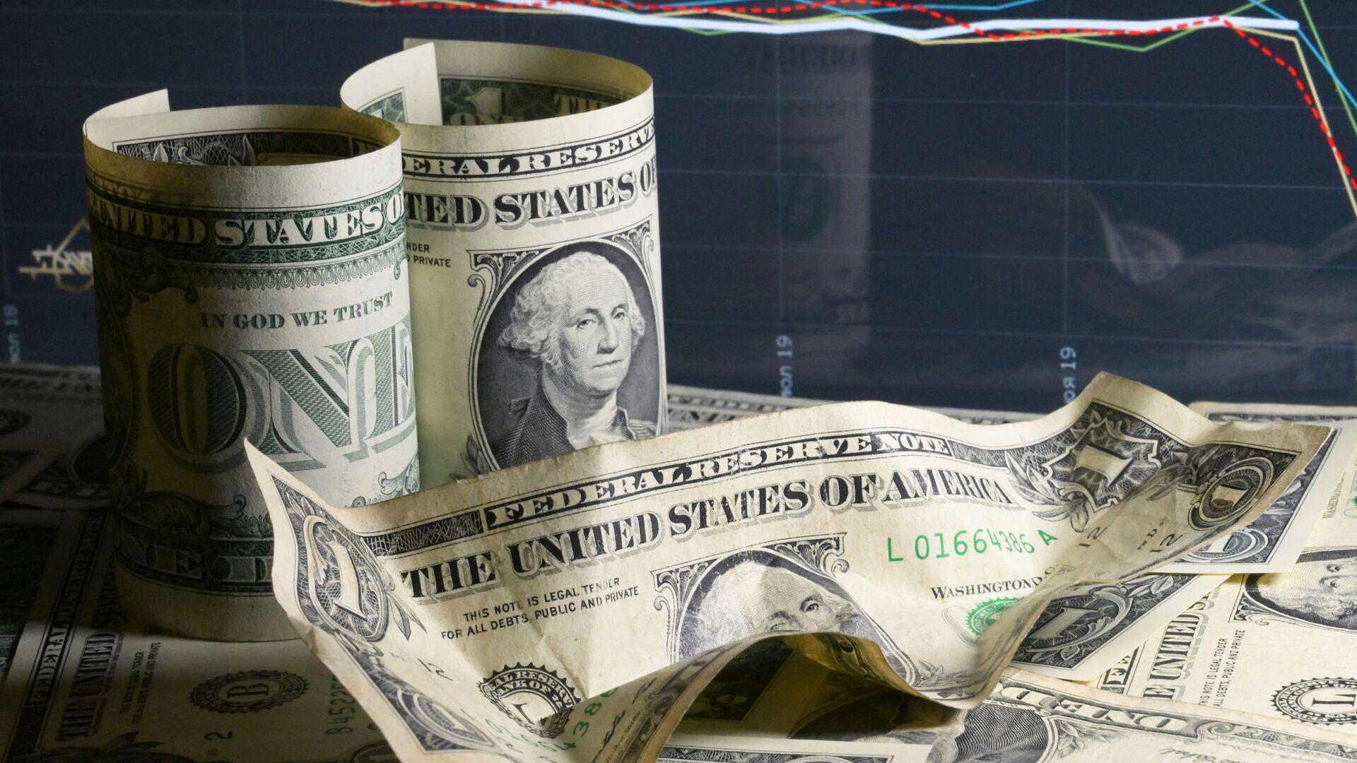 Billetes de dólares de EEUU - Sputnik Mundo, 1920, 28.04.2021