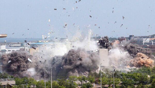 Explosión de la oficina de enlace intercoreano en Corea del Norte - Sputnik Mundo