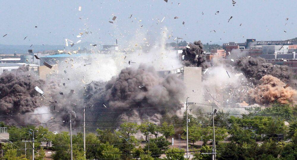 Explosión de la oficina de enlace intercoreano en Corea del Norte