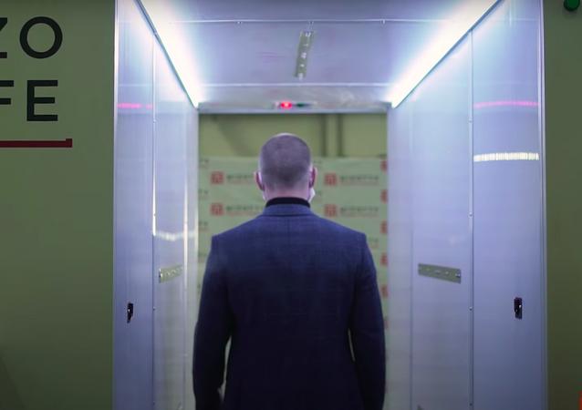Así es el túnel de esterilización instalado en la residencia de Putin