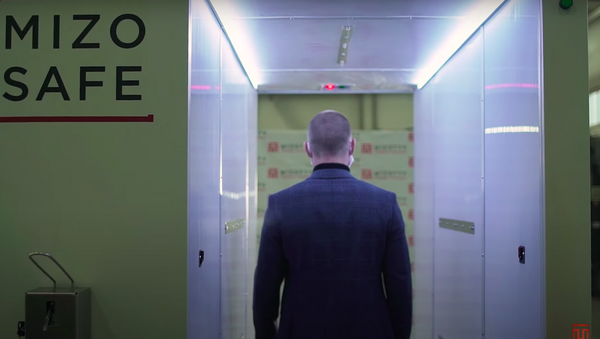 Así es el túnel de esterilización instalado en la residencia de Putin - Sputnik Mundo