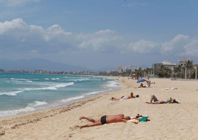 Una playa en la Palma de Mallorca, España
