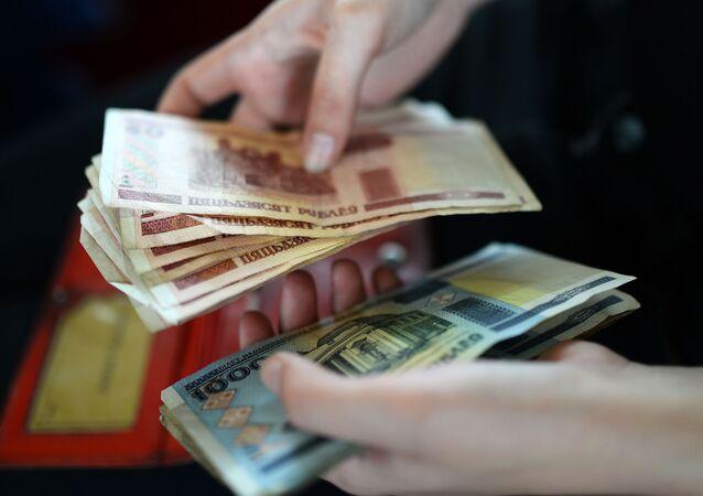 Billetes de rublos bielorrusos