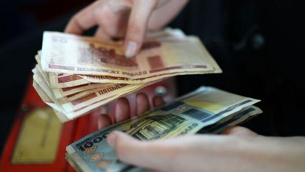 Billetes de rublos bielorrusos - Sputnik Mundo