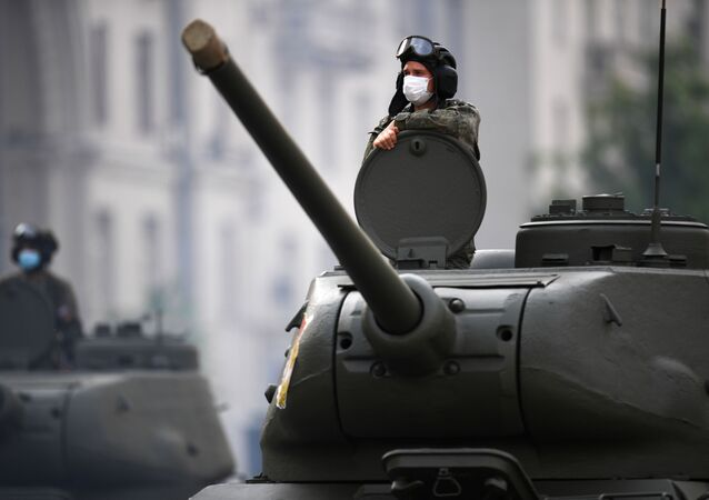 El ensayo del Desfile de la Victoria en Moscú