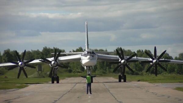 Los Tu-95MS rusos patrullan las aguas del océano Pacífico Norte - Sputnik Mundo