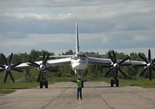 Los Tu-95MS rusos patrullan las aguas del océano Pacífico Norte
