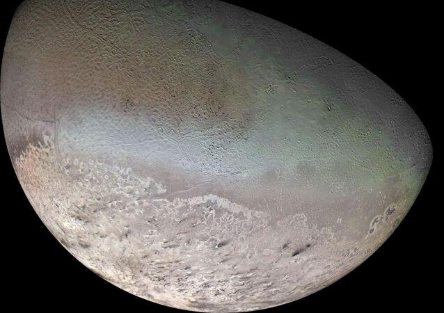 Tritón, una de las lunas de Neptuno