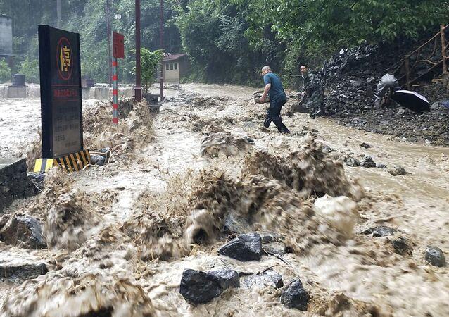 Las inundaciones en China