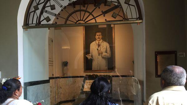 Tumba de José Gregorio Hernández en la Iglesia de Nuestra Señora de la Candelaria - Sputnik Mundo