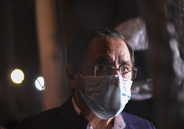 El ministro de Salud de Guatemala, Hugo Monroy