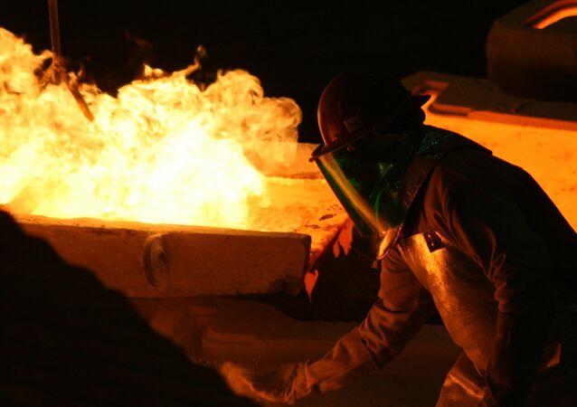 Trabajador de la industria minera en Chile