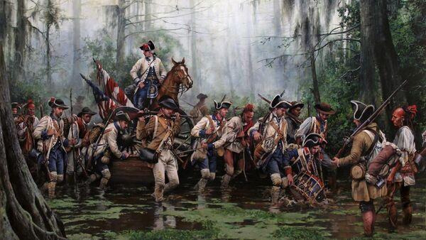 En la Revolucion Americana combatian con los españoles de Galvez hombres de color Libres - Sputnik Mundo