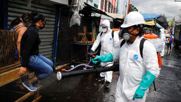 Desinfección de las calles en San Salvador - Sputnik Mundo