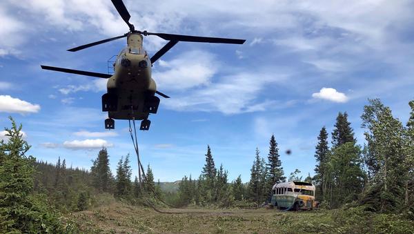 Retirada del autobús 142 del Sistema de Tránsito de Fairbanks del Parque Nacional Denali, Alaska - Sputnik Mundo