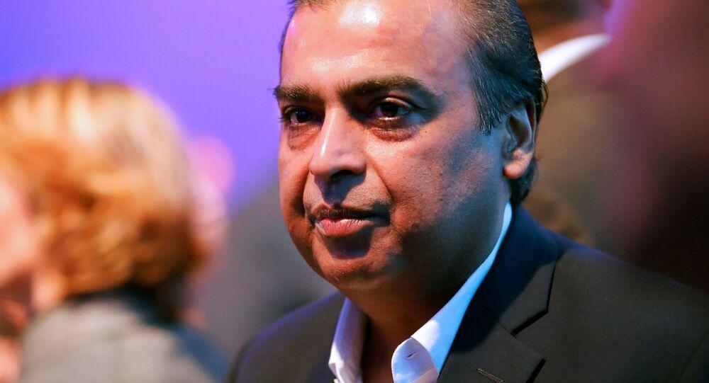Mukesh Ambani, presidente y director general de Reliance Industries