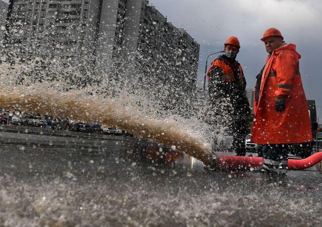 Inundaciones en Moscú