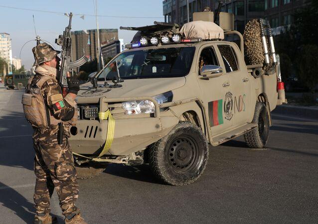 Un agente de las Fuerzas de Seguridad de Afganistán (archivo)
