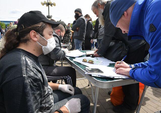 Recolecta de firmas en víspera de las elecciones en Bielorrusia