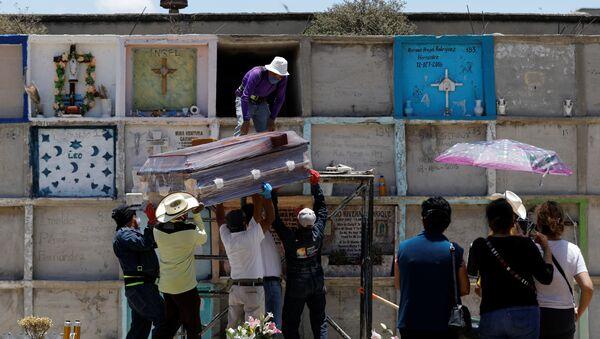 Funeral durante la pandemia de COVID-19 en México - Sputnik Mundo