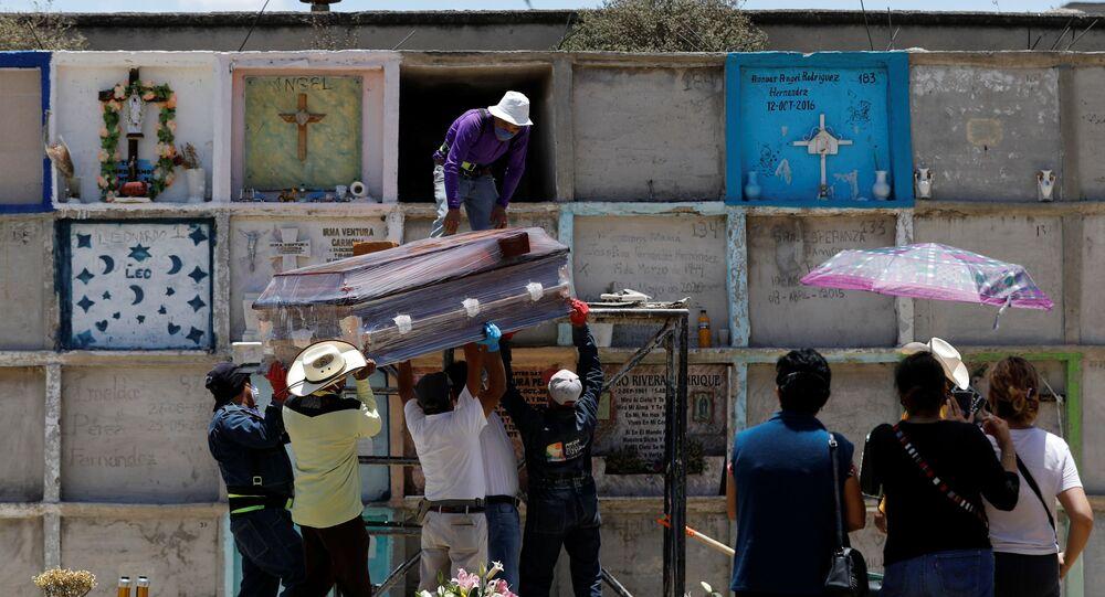 Funeral durante la pandemia de COVID-19 en México