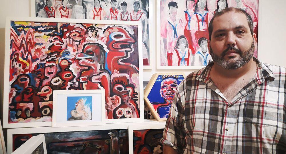 Samuel Riera en su taller