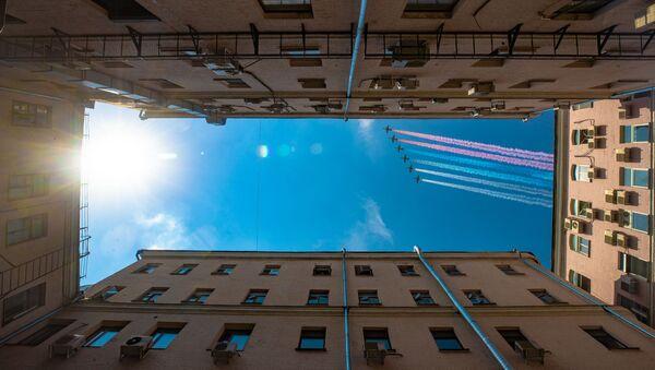 Ensayo final del Desfile de la Victoria en Moscú - Sputnik Mundo