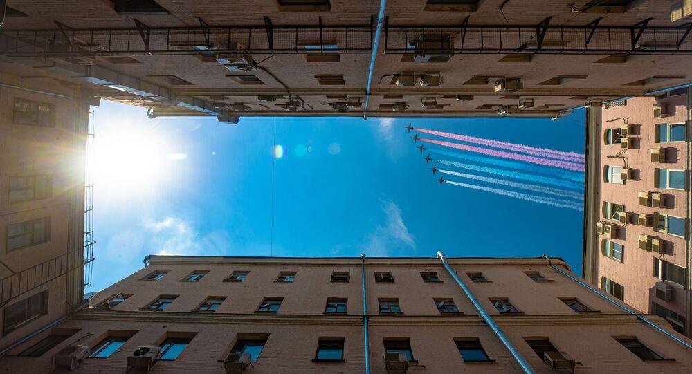 Ensayo final del Desfile de la Victoria en Moscú