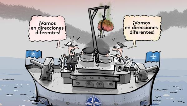 Macron vuelve a la carga e insiste en la muerte cerebral de la OTAN - Sputnik Mundo