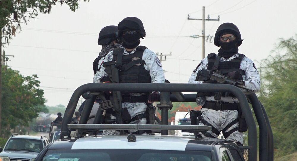 La Guardia Nacional de México en San Mateo del Mar