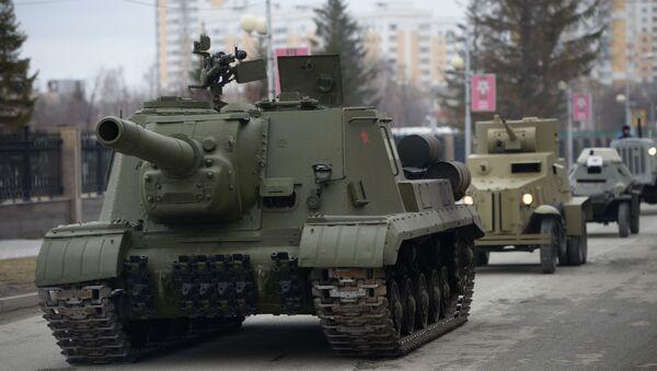 El cañón autopropulsado ISU-152 - Sputnik Mundo