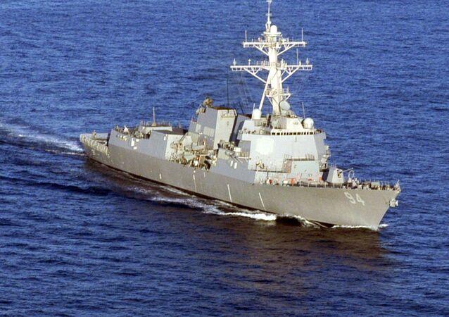 El destructor naval estadounidense Nitze
